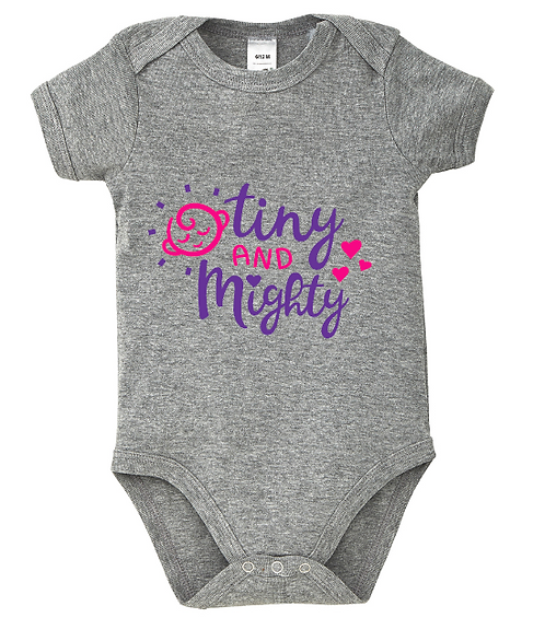 Tiny And Mighty Baby Bodysuit