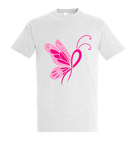 Butterfly Cancer Ribbon T-Shirt