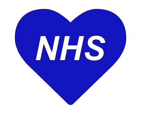 Blue NHS Heart