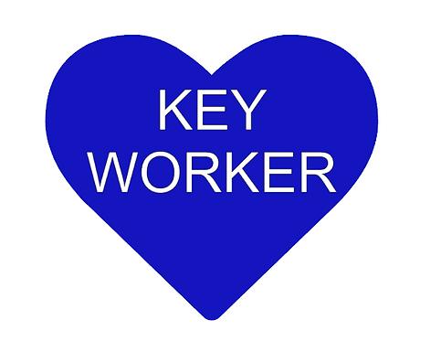 Blue Key Worker Heart