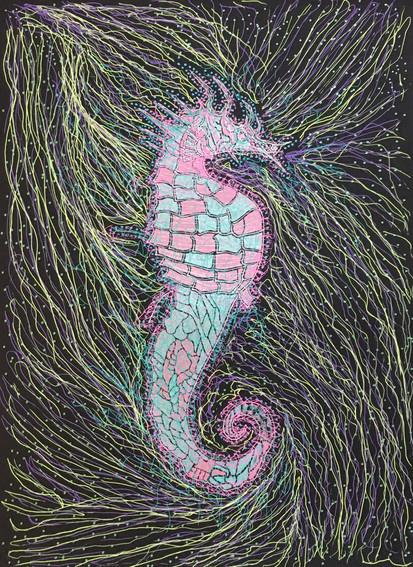 Mr.Sea Horse in labour