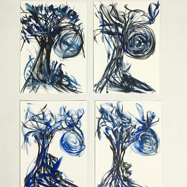 Tree of Blue Skies set of 4