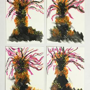 Garden Tree Set of 4