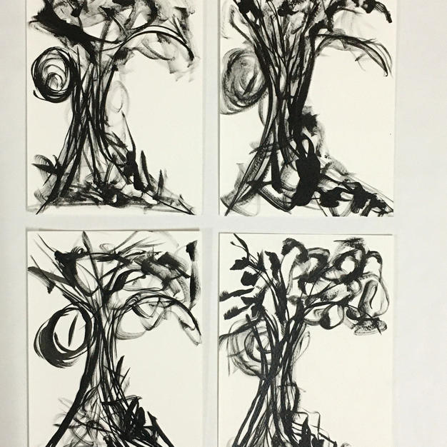 A Nude Tree set of 4
