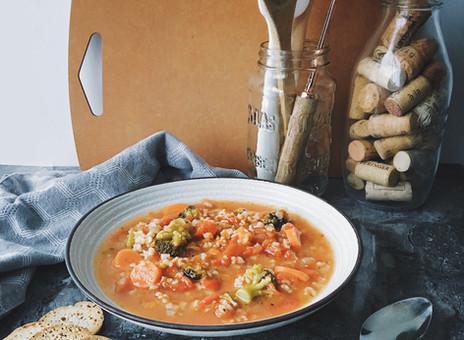 Soupe riz & légumes