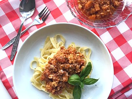 La meilleure sauce bolognaise, sans viande!