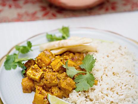Cari indien aux patates douces et au paneer