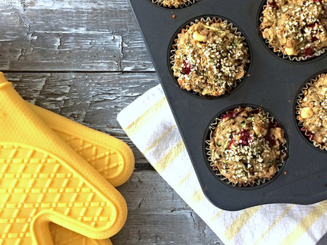 Muffins à la courgette, aux canneberges et au chocolat blanc