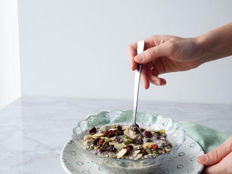 Gruau à préparer la veille canneberges, raisins & cannelle