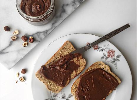 Tartinade choco-noisettes sans sucre ajouté, en 4 ingrédients