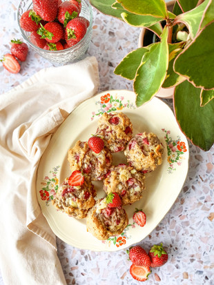 Muffins fraises et chocolat blanc