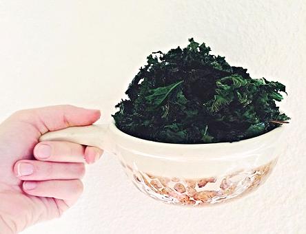 Croustilles de kale à la fleur de sel