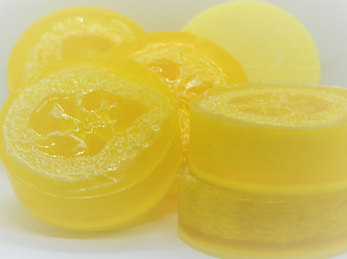 Lemon Slices Loofah Soap