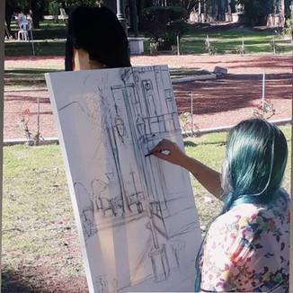 5º encontro de pintores em Maipu, mendoza, Argentina.