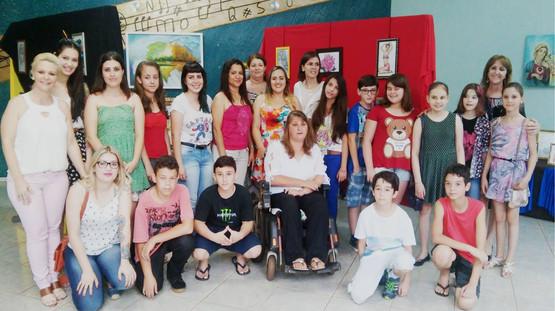 1º expo com alunos.