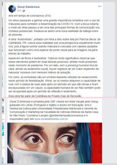 Crítica de Oscar D'Ambrosio a Obra Regeneração Pandêmica.