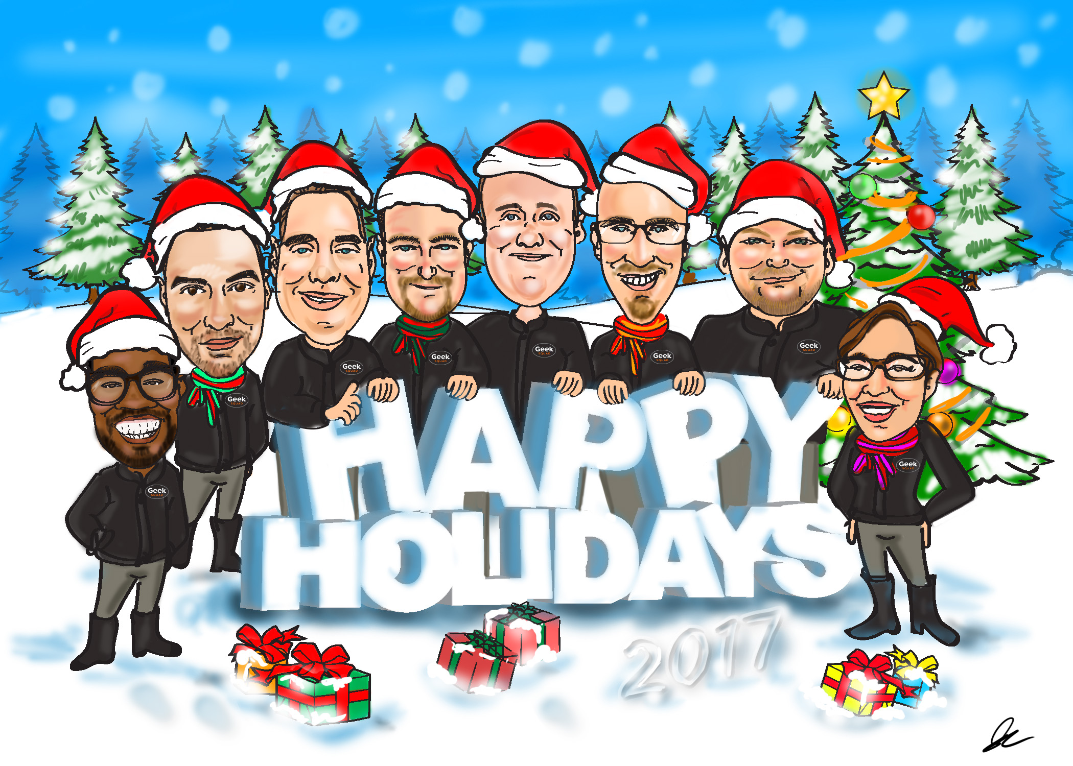Best Buy Geek Squad Holiday Card