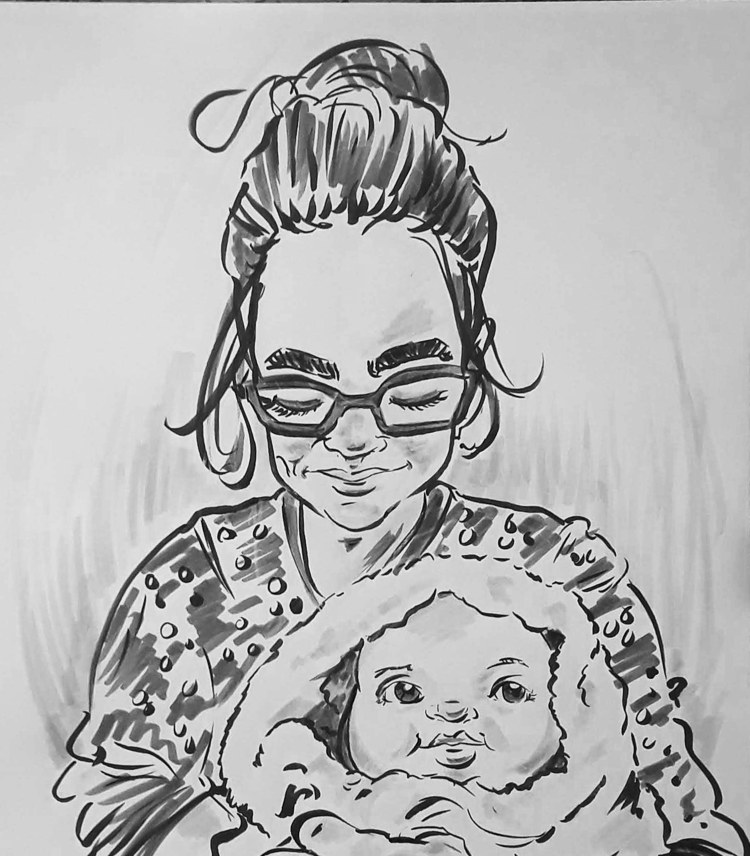 mother_child_caricature