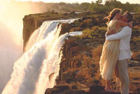 Victoria Falls Romantic Picture next to