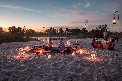 Tongabezi Victoria Falls Sandbank Dinner
