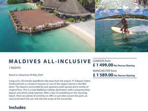 Great All-Inclusive Maldives Offer