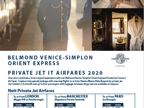 Orient-Express by Private Jet
