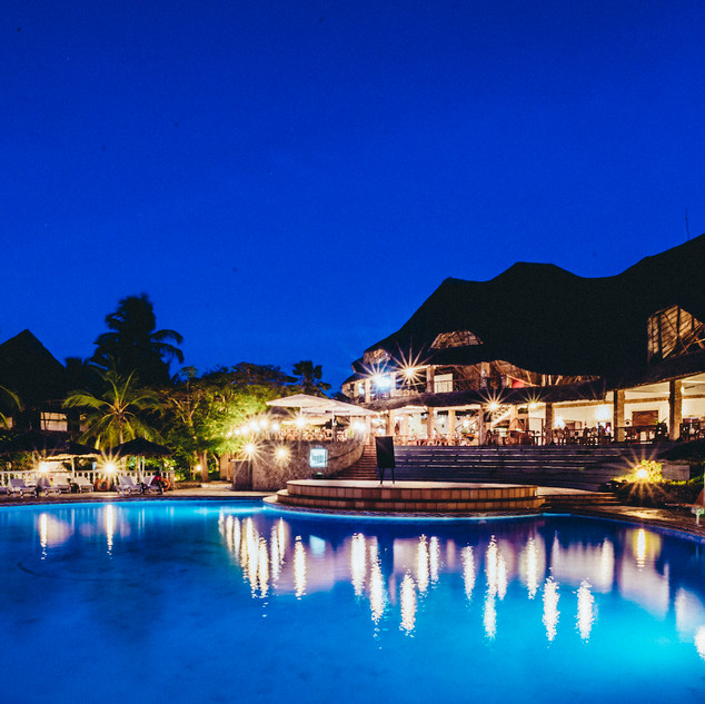 Temple Point Resort Pool at Night