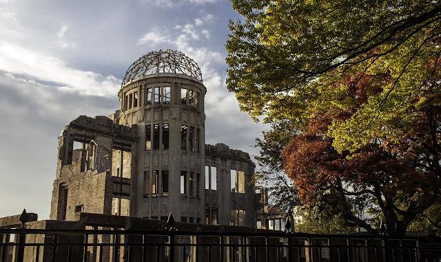 Uma construção em Hiroshima