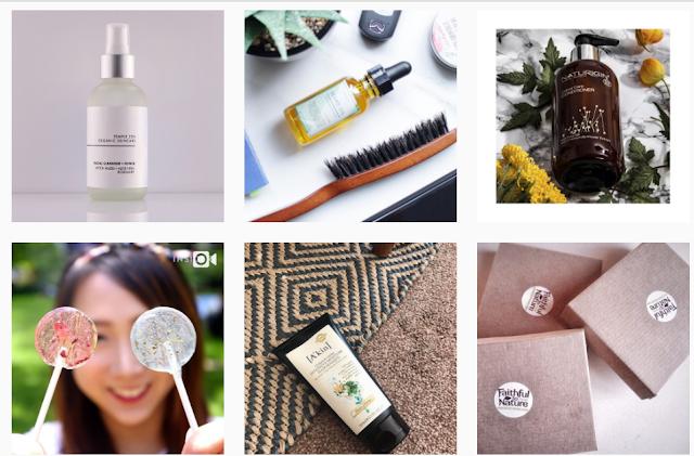 Print do instagram mostra produtos cosméticos sustentáveis.