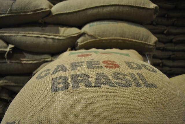Sacos de café do Brasil