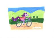 Caballo en bicicleta