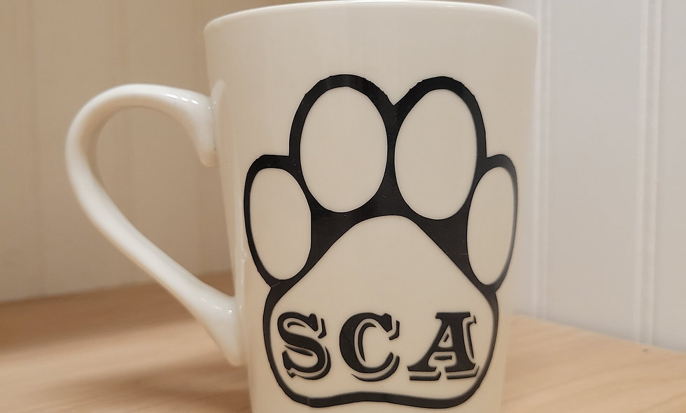 SCA Paw Print Coffee Mug
