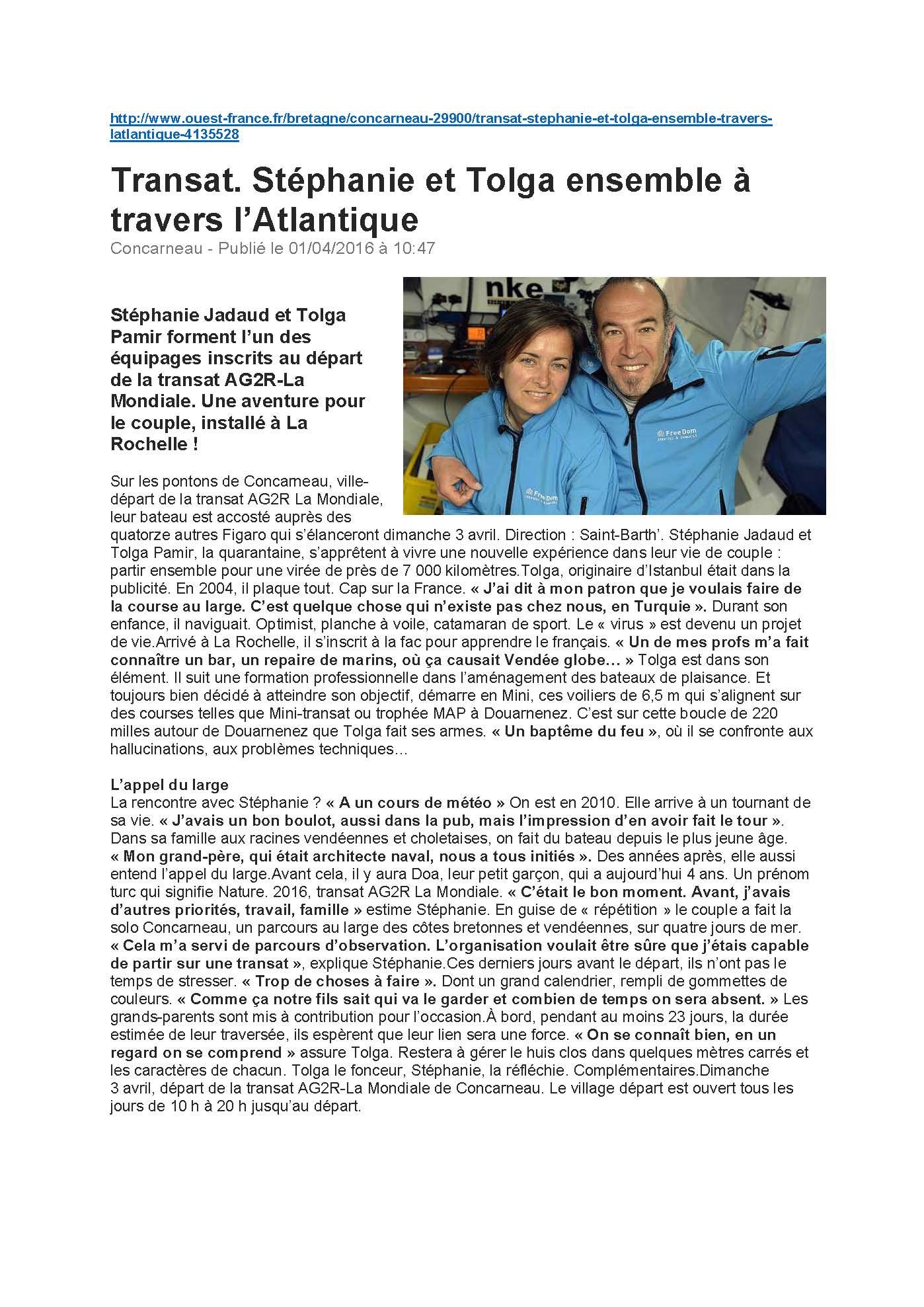 Ouest France web 01.04.2016