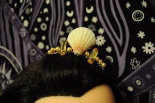 Yellow & Gold Shell Tiara