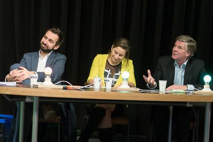 panelists and Hugo van der Zee