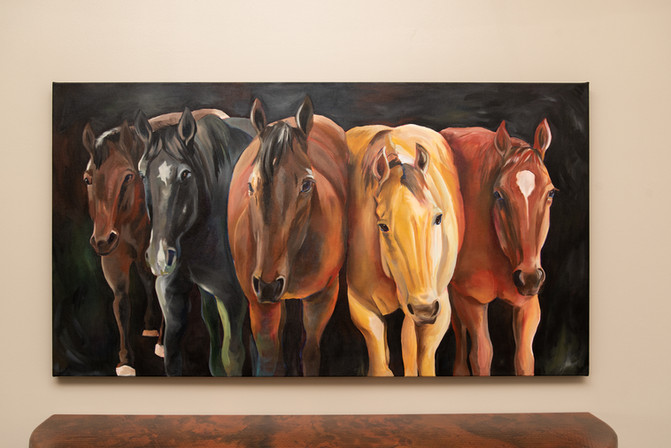"""65""""x36"""" acrylic on hand stretched canvas"""