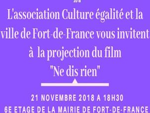 Projection débat du film Ne dis rien Mercredi 21 novembre à 18h30