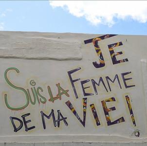 """Fresque murale """"Je suis la femme de ma vie"""""""