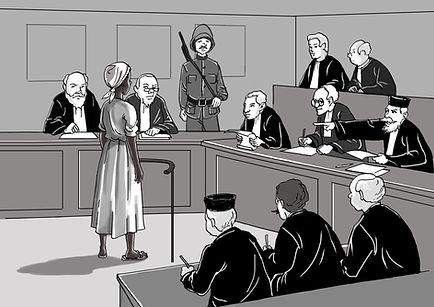 Illustration du procès de Lumina Sophie, Insrrection du sud septembre 1870 de Bruno Dulthéo pour Culture Égalité