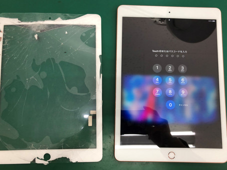 iPad 7 フロントパネル交換修理