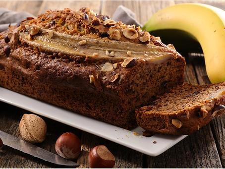 Cake moelleux  bananes, noix, chocolat sans gluten