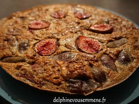 Gâteau sans gluten figues et noix aux quatre épices