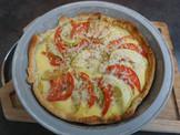 Tarte sans gluten courgettes et tomates