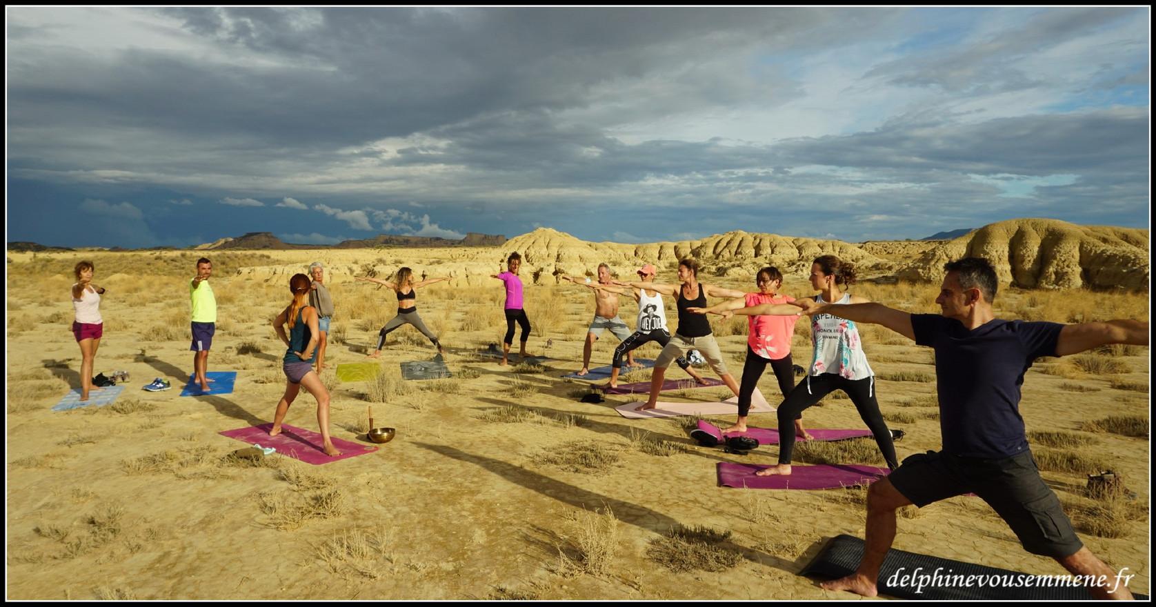 Yoga au coeur du désert