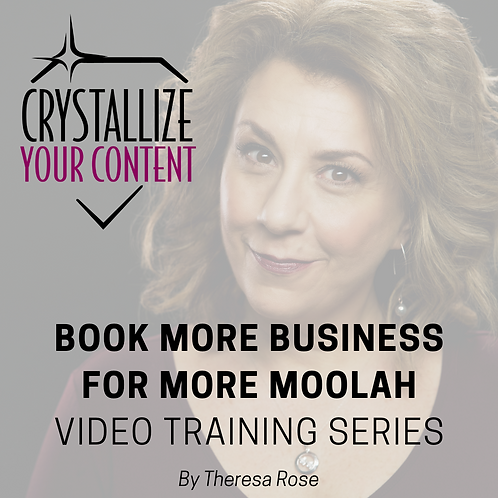 Book More Business For More Moolah Video Training Series