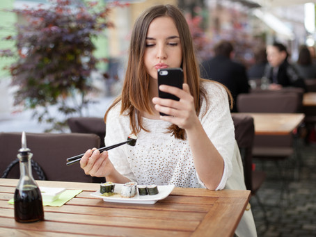 When Dining Alone, Don't Invite Your Phone