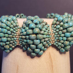 Turquoise Picasso Scallop Bracelet - $72.00