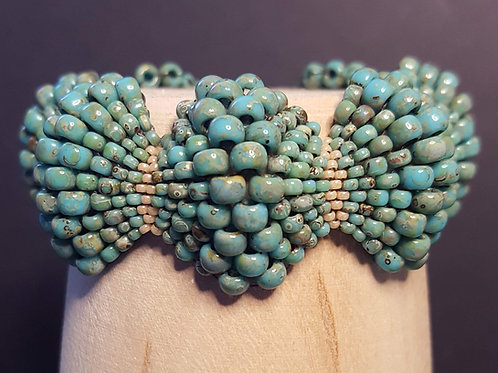 Turquoise Picasso Scallop Bracelet