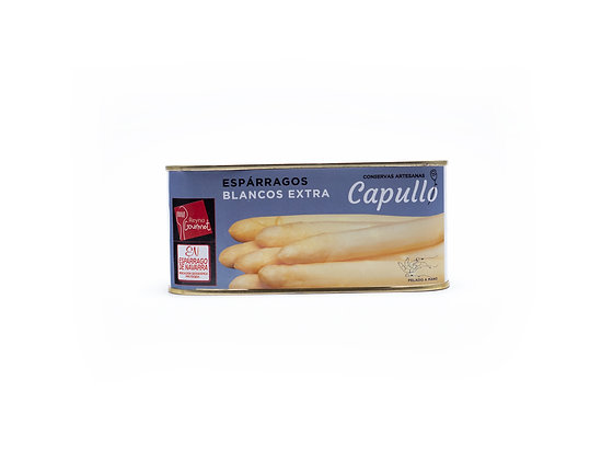Esparrago Blanco Extra. Calibre 4 a 6 uds/lata. Conservas Capullo
