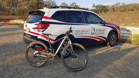 SAFEgroup Automation staff going for a mountain bike ride